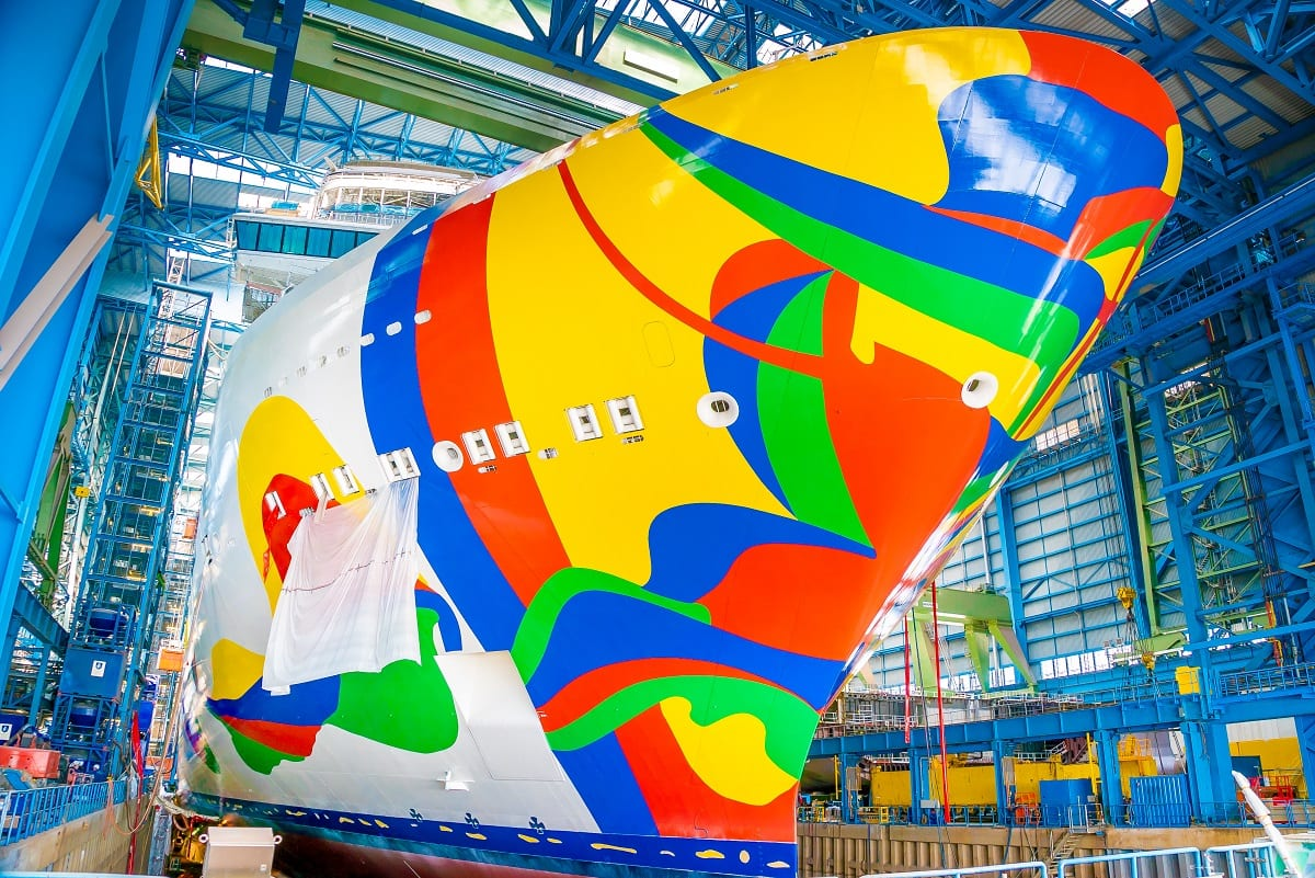 Norwegian Encore Hull Art Complete