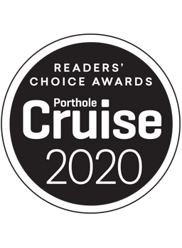 Logo del Reader's Choice Awards 2020 otorgado por Porthole Cruise Magazine