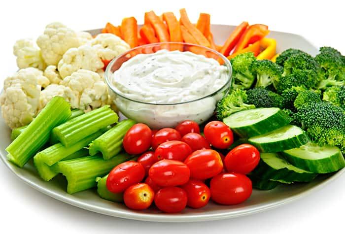 Bandeja de verduras