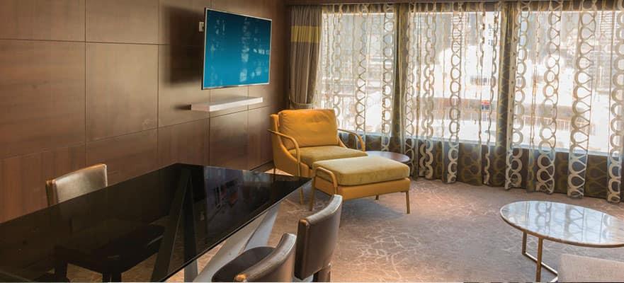 Relájate en un ambiente elegante, lujoso y cómodo.