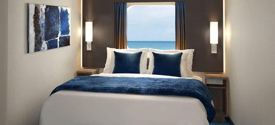 Camarote con vista al mar con ventana panorámica