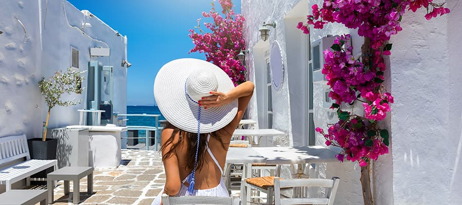 Crucero en Grecia: pueblo de Oia, Santorini