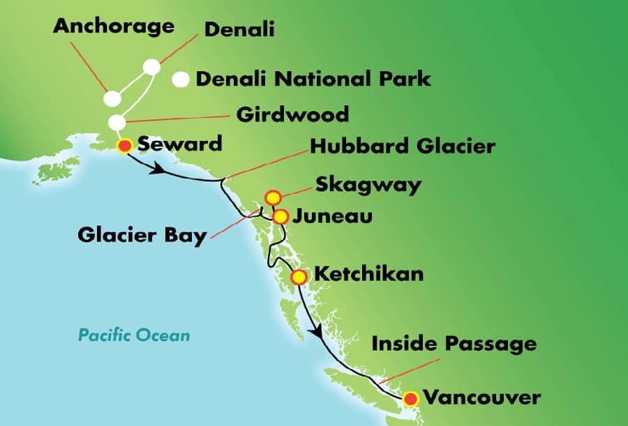 Explora Denali/Alyeska en 12 días