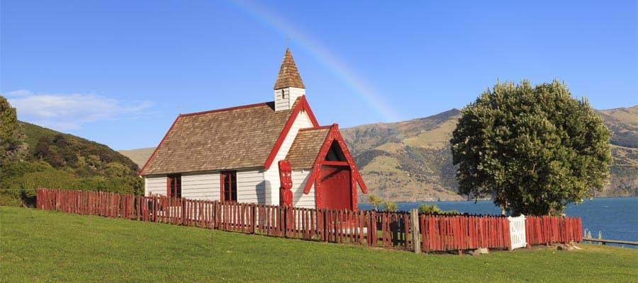 Iglesia maorí en cruceros a Akaroa