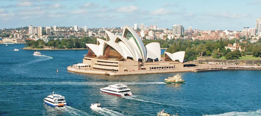 Ópera de Sídney en un crucero en Australia