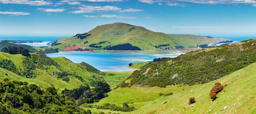 Vista de la costa de Dunedin