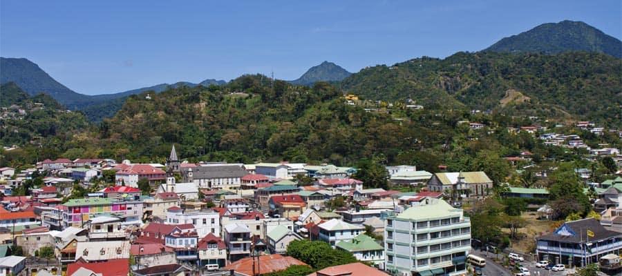 Ciudad colorida en Bridgetown, Barbados