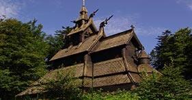 Troldhaugen e iglesia de madera de Fantoft