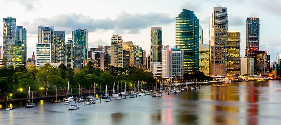 Paisaje urbano desde Kangaroo Point en cruceros a Brisbane