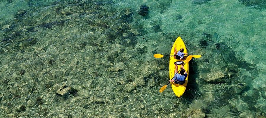Navega en kayak durante tu próximo crucero por las Bermudas