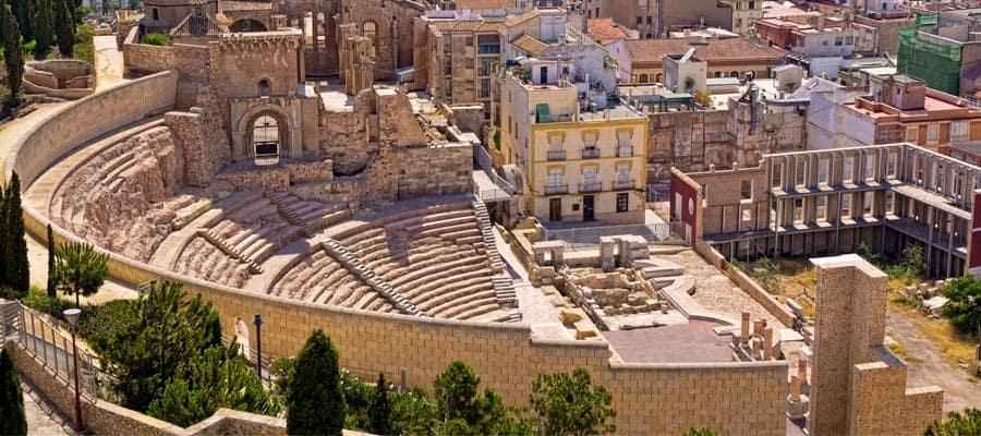 Anfiteatro romano en tu crucero a Cartagena
