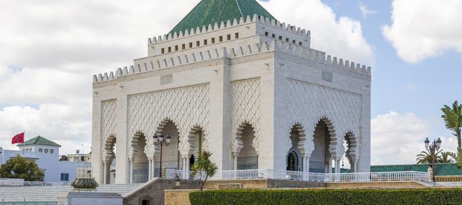 El Mausoleo de Mohammed V en tu crucero a Marruecos