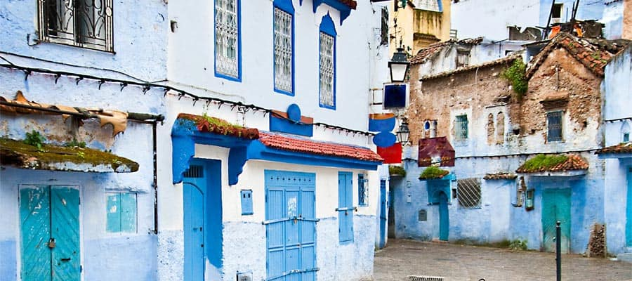 Detalles arquitectónicos y puertas de Marruecos