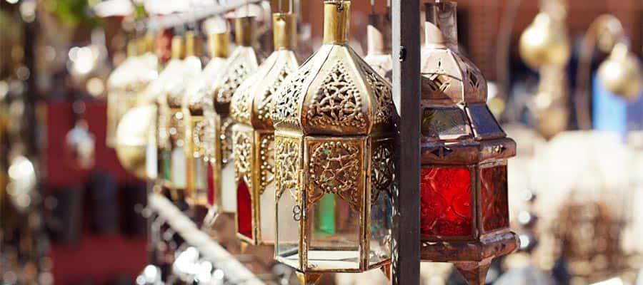 Visita un zoco de Marrakesh en Marruecos