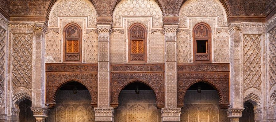 Al-Attarine Madrasa en Fez en tu crucero a Marruecos