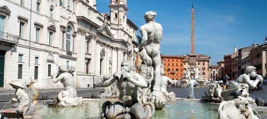 Plaza Navona en tu crucero por Roma