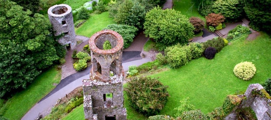 Vista aérea de las torres del castillo de Blarney