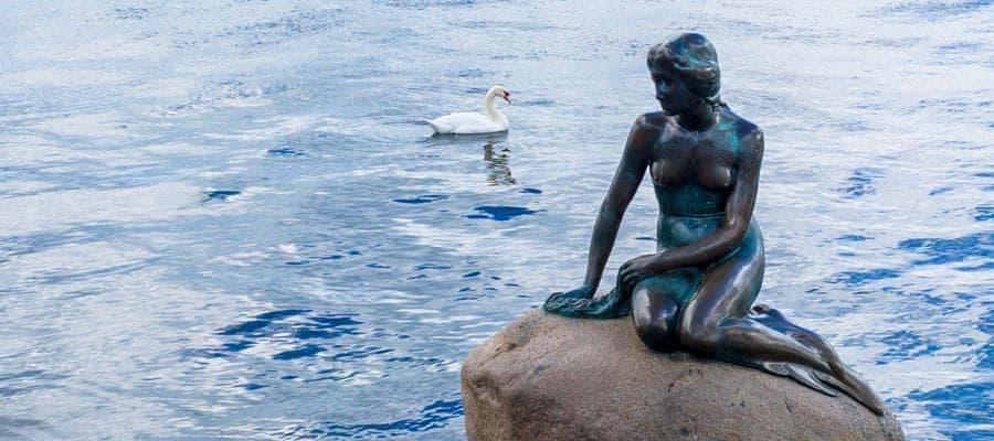 Conoce La sirenita en tu crucero a Copenhague