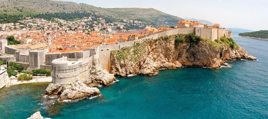 Acantilados de Dubrovnik en Croacia