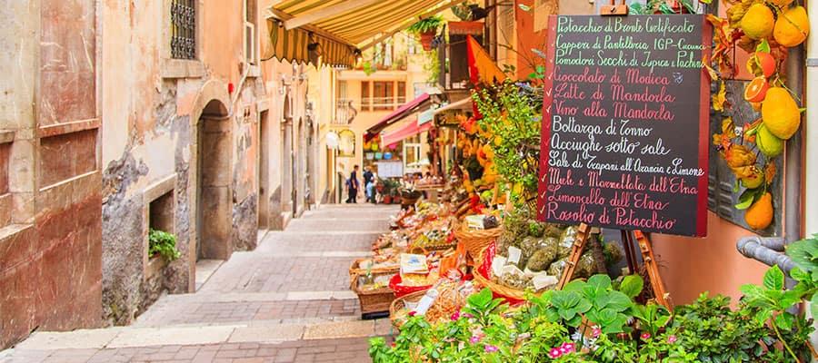 Compra en Sicilia cuando salgas de crucero por Europa