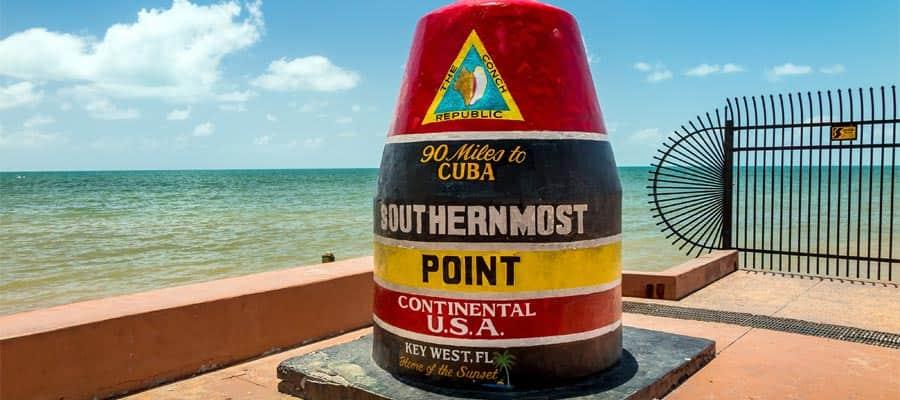 Viaja al punto más austral de EE. UU. en tu crucero por el Caribe