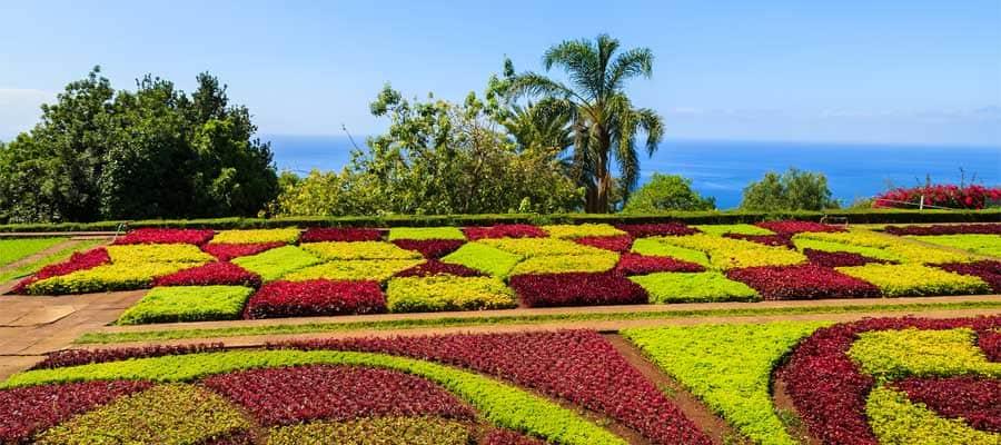 Visita los Jardines Funchal mientras estés en Portugal, durante tu crucero transatlántico