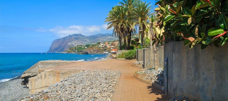 Paseo marítimo y acantilado de Cabo Girao en cruceros a Funchal