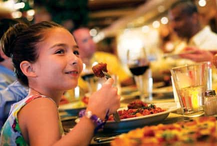 Family Cruises with a wide variety of dining options