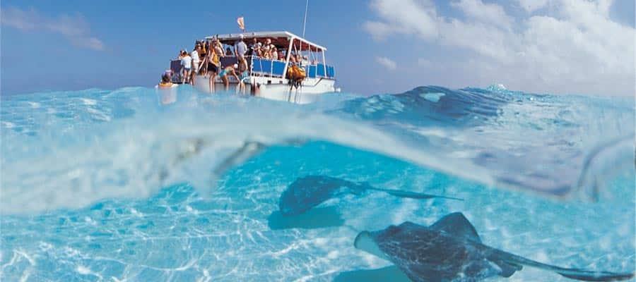 Nada con rayas en un crucero por el Caribe