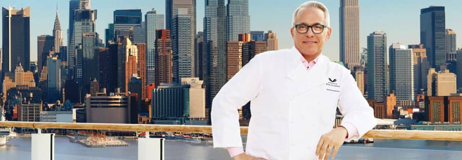 Geoffrey Zakarian, el famoso chef de Norwegian Cruise Line