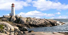 Paseo costero a Peggys Cove (en francés)