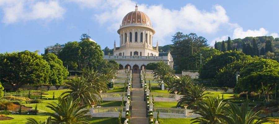 Jardines Bahaí en tu crucero a Haifa