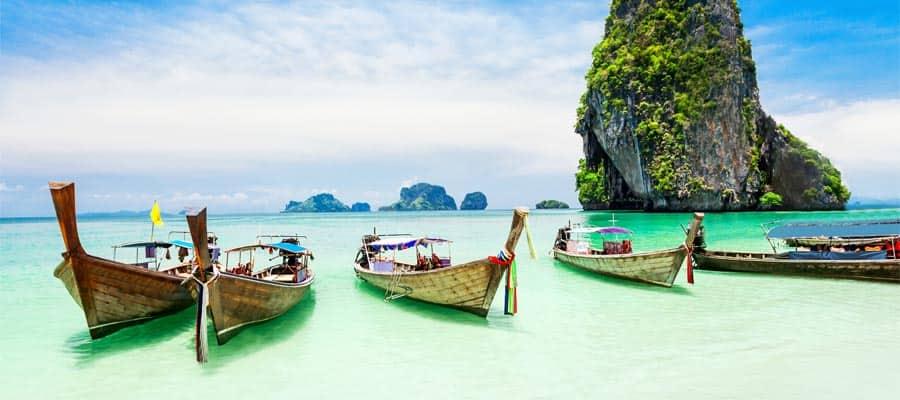 Bote de cola larga en cruceros a Phuket