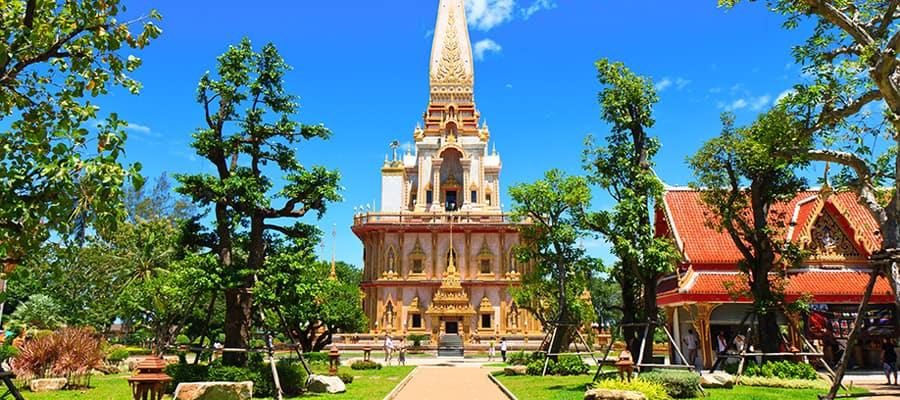 Templo de Wat Chalong en tu crucero a Phuket