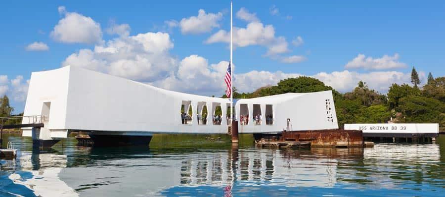 Crucero en Hawái al U.S.S. Arizona Memorial en Pearl Harbor
