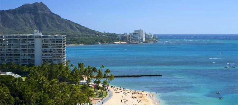 Crucero a Waikiki Beach en Hawái