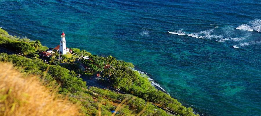 Faro de Diamond Head en tu crucero en Hawái