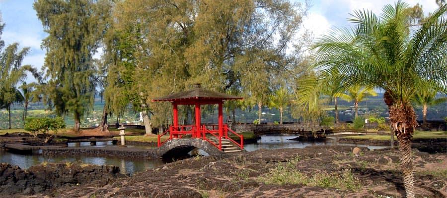 Jardines Liliuokalani durante tu crucero a Hawái