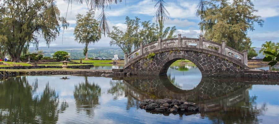 Haz una parada en el Jardín japonés durante tu crucero a Hawái