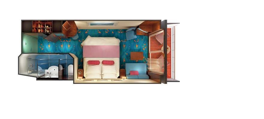 Plano de camarote con balcón