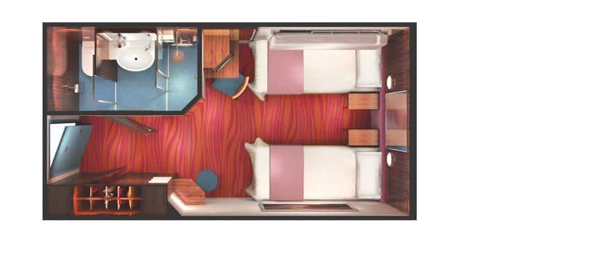 Plano de camarote interior central