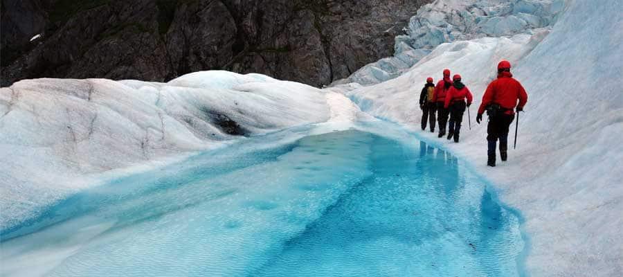 Camina entre glaciares en un crucero a Juneau
