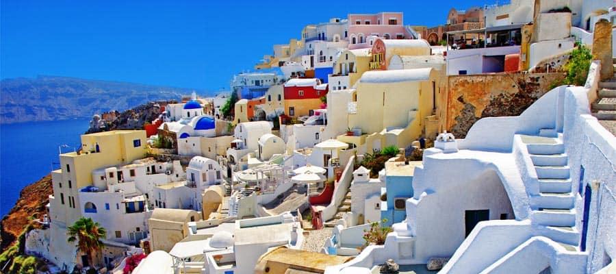 Arquitectura única en Santorini