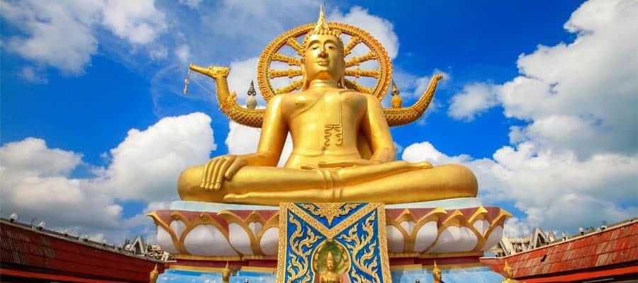 Gran estatua de Buda en tu crucero a Ko Samui