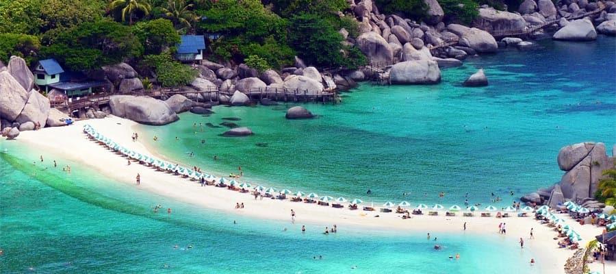 Visita la isla Nang Yuan en tu crucero a Ko Samui
