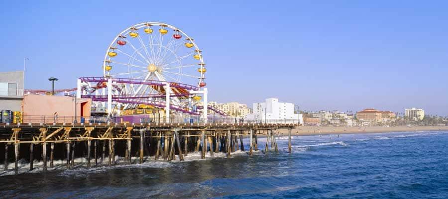 El muelle en Santa Mónica en tu crucero a Los Ángeles