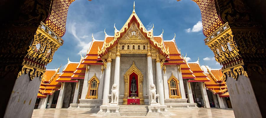Templo Wat Benchamabophit en tu crucero a Laem Chabang