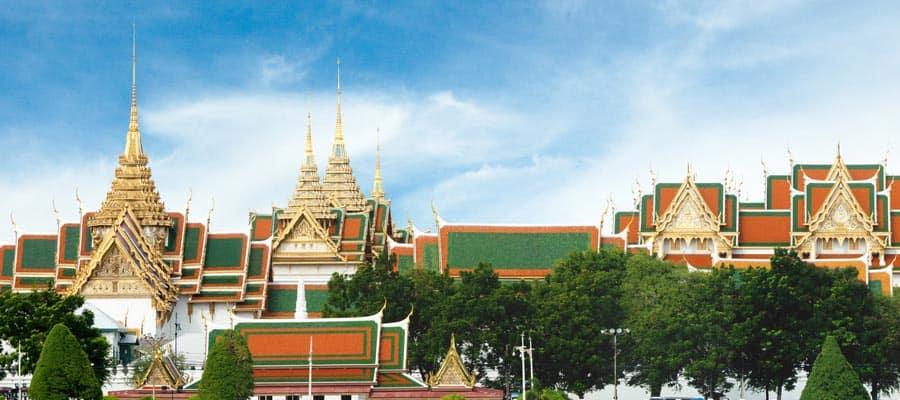Tejados opulentos de Bangkok en un crucero a Laem Chabang
