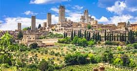San Gimignano y granja San Donato