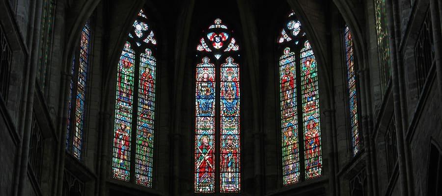 Hermosos vitrales en Burdeos
